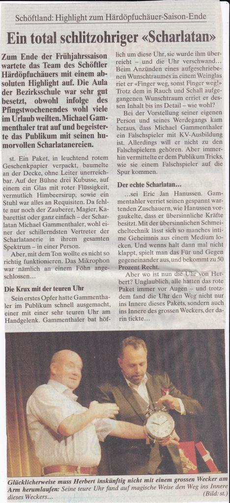 Gammenthaler_Wynentaler Blatt Nr 44_13. Juni 2014